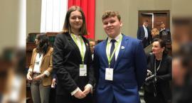 Paula i Jakub z I LO wzięli udział w obradach Sejmu Dzieci i Młodzieży