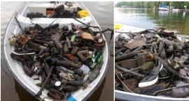 Butelki, reklamówki oraz buty. Płetwonurkowie z Mureny sprzątają Trzesiecko