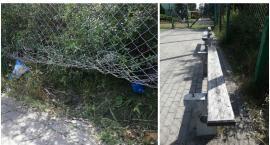 Kawałki szkła, niedopałki i śmieci. Tak wygląda boisko przy ul. Koszalińskiej