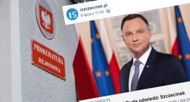 Napisał na fejsie, co zrobi prezydentowi jak przyjedzie do Szczecinka. Zgłoszenie do prokuratury