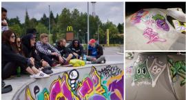 Graffiti na Skateplazie w Szczecinku. Obiekt zyskał nowy wygląd