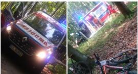 Maraton MTB w Szczecinku: Uczestnik przeleciał przez kierownicę roweru i doznał poważnego urazu
