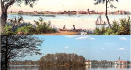 Stary Szczecinek: Panorama z rybakami