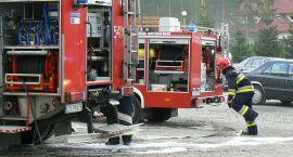 Pożar skrzynki energetycznej, śmieci i podgrzewacza wody
