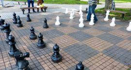 Grają w szachy na świeżym powietrzu
