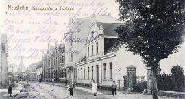 Stary Szczecinek. Gmach sądu i ulica