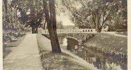 Niezdobna, mostek z balustradą i obniżanie wody