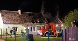 Pożar domu w Łubowie