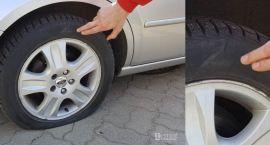 Poprzebijane opony w samochodach na ul. Piłsudskiego