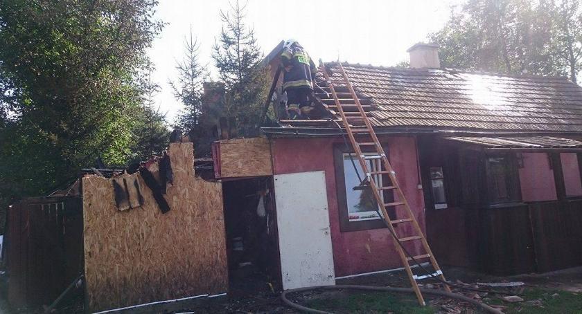 Zdarzenia, Pożar Duńkowicach - zdjęcie, fotografia