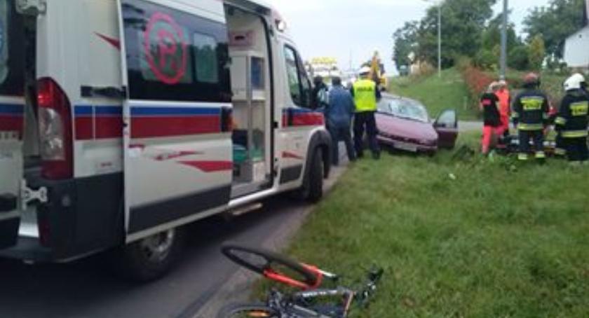 Zdarzenia, Potrącenie letniego rowerzysty Pawłosiowie - zdjęcie, fotografia