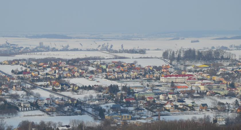 Zimowy Pruchnik oglądany z wieży widokowej