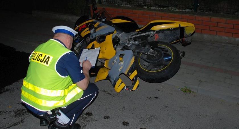 Zdarzenia, Zginął motocyklista - zdjęcie, fotografia