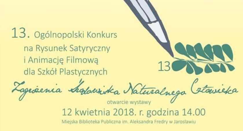 Wydarzenia, Otwarcie wystawy Ogólnopolskiego Konkursu Rysunek Satyryczny Animację Filmową - zdjęcie, fotografia