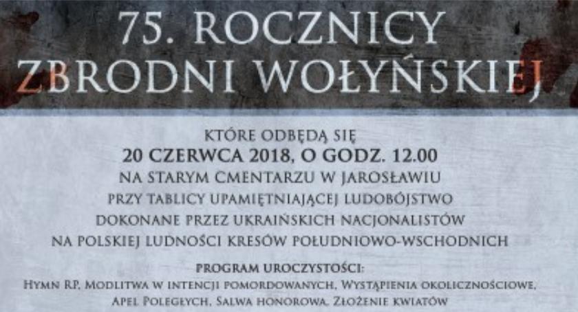 Wydarzenia, Uroczyste Obchody Rocznicy Zbrodni Wołyńskiej - zdjęcie, fotografia