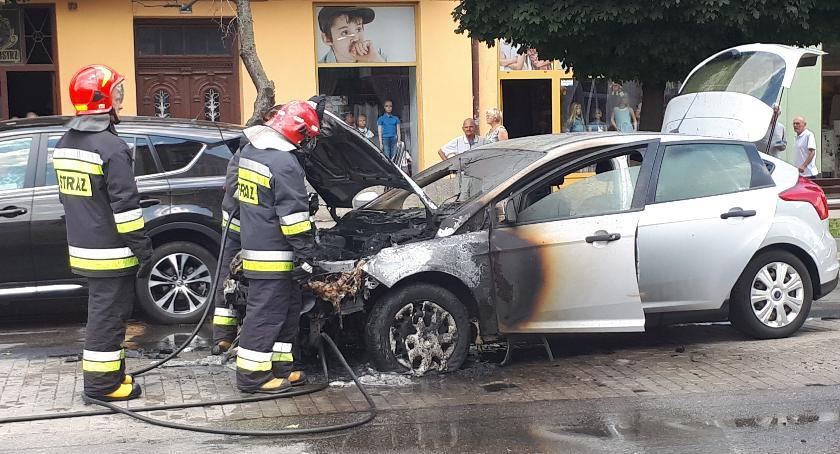 Na Grunwaldzkiej zapalił się samochód
