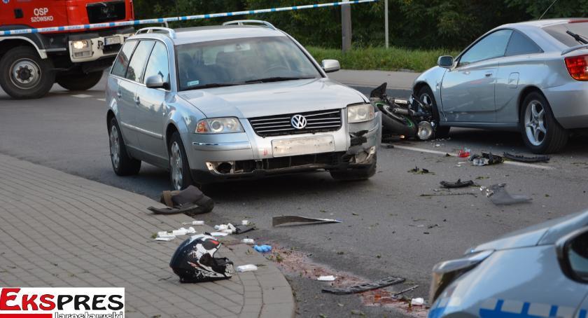 Zginął motocyklista przed mostem w Jarosławiu