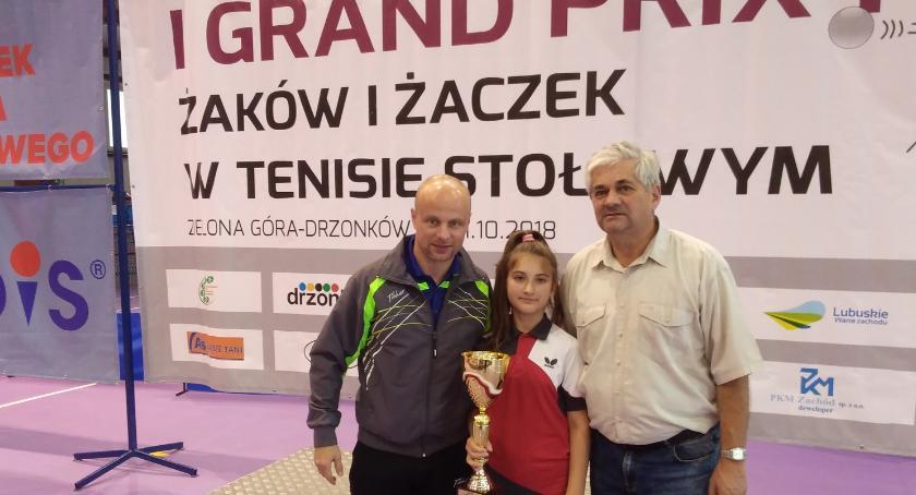 Tenis stołowy, Udany turniej Kingi - zdjęcie, fotografia