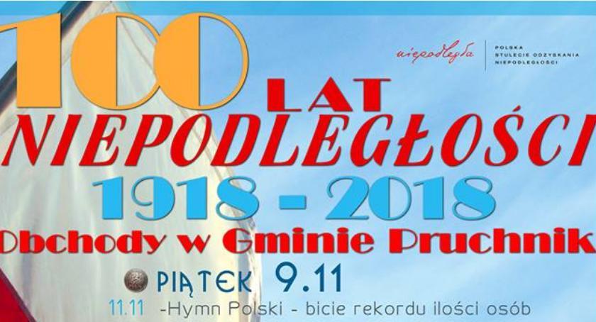 Wydarzenia, Niepodległości Obchody gminie Pruchnik - zdjęcie, fotografia