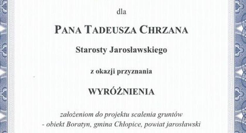 Powiat jarosławski wyróżniony za scalenia