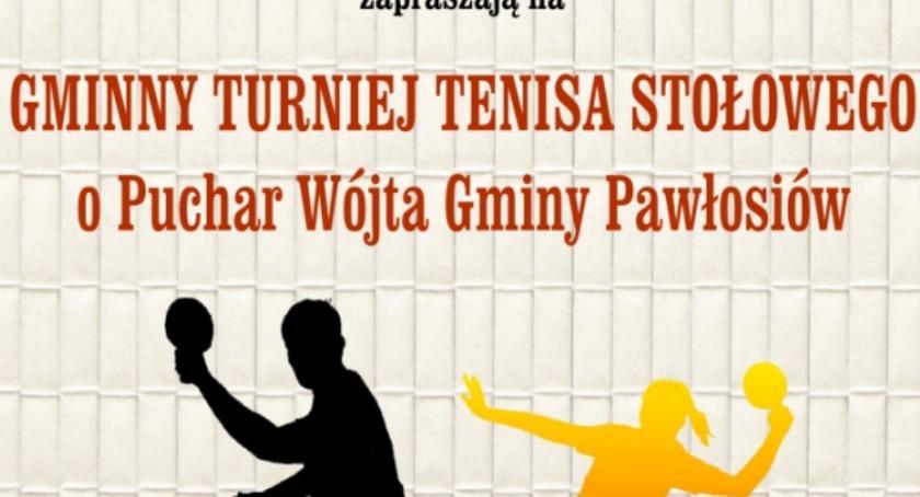 Gminny Turniej Tenisa Stołowego o Puchar Wójta Gminy Pawłosiów