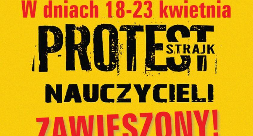 Strajk nauczycieli zawieszony