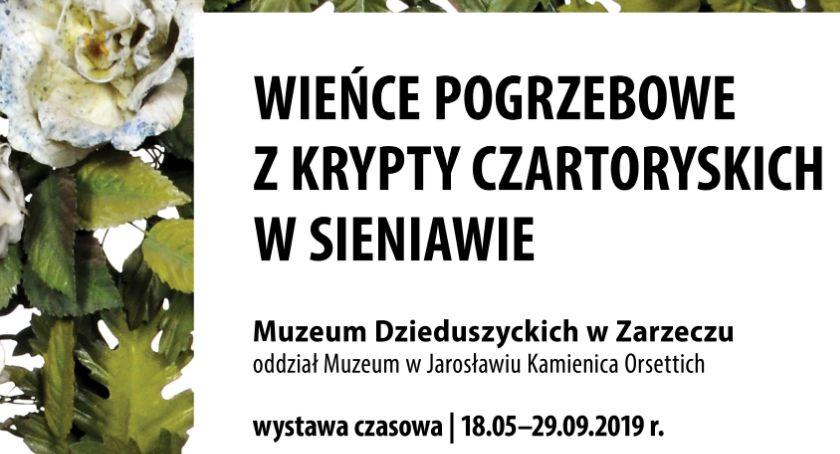 Wystawy, Wystawa wieńców pogrzebowych krypt Czartoryskich Sieniawie - zdjęcie, fotografia