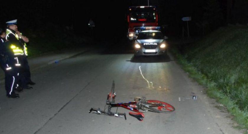 Nie żyje pieszy potrącony przez rowerzystę
