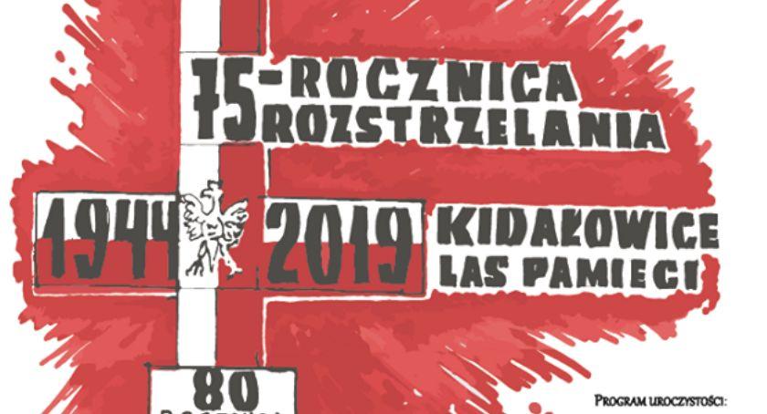 Wydarzenia, rocznica rozstrzelania Lesie Kidałowickim - zdjęcie, fotografia