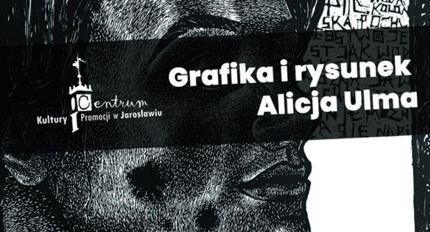 Wystawy, Grafika rysunek Alicja - zdjęcie, fotografia