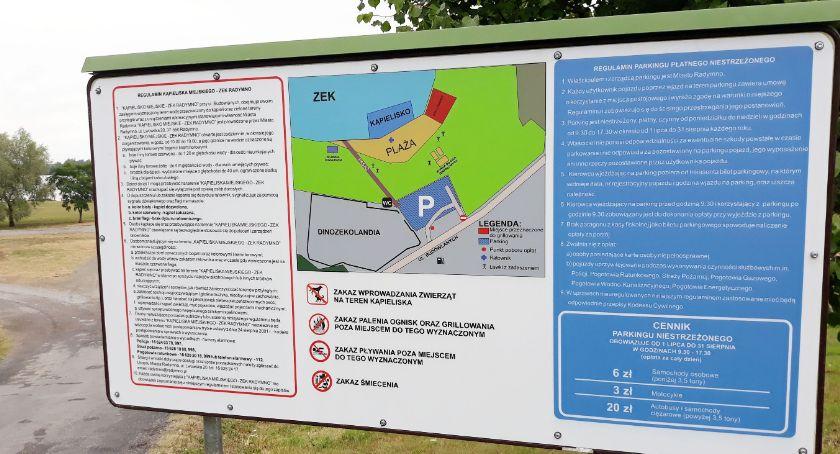 Samorząd, Opłaty parkingu plaży miejskiej Radymnie - zdjęcie, fotografia