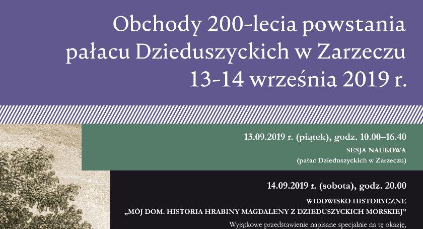 Historia, lecie powstania pałacu Dzieduszyckich Zarzeczu - zdjęcie, fotografia