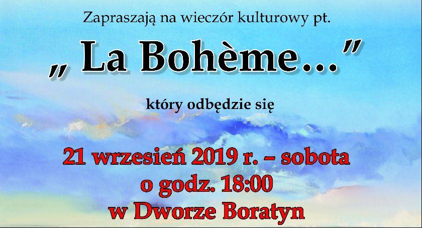 Wydarzenia, Wieczór kulturowy Bohéme - zdjęcie, fotografia