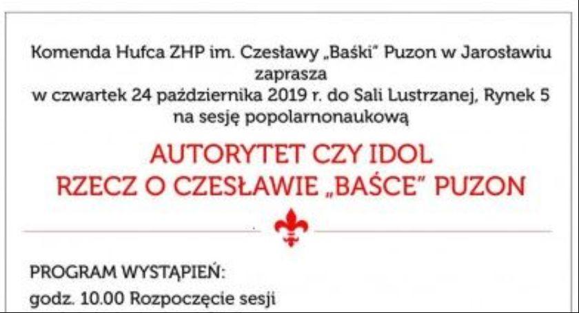 Wydarzenia, Sesja popularnonaukowa Czesławie Baśce Puzon - zdjęcie, fotografia