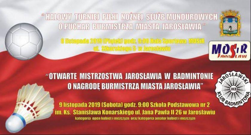 Wydarzenia, Otwarte Mistrzostwa Jarosławia Badmintonie nagrodę Burmistrza Jarosławia - zdjęcie, fotografia