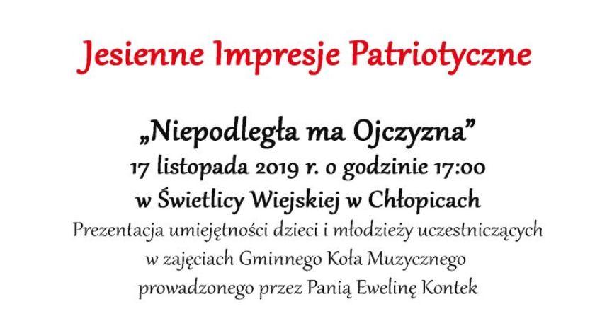 Wydarzenia, Jesienne Impresje Patriotyczne Niepodległa Ojczyzna - zdjęcie, fotografia