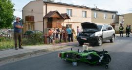Wypadek w Surochowie, ranny motocyklista