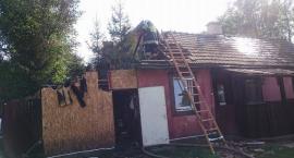 Pożar domu w Duńkowicach