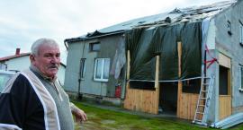 Huragan zerwał dach