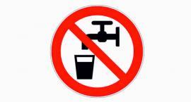 Alarm woda niezdatna do używania