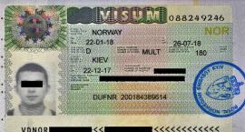 Podrobiona wiza norweska