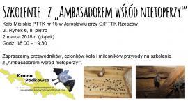 """Szkolenie z """"Ambasadorem wśród nietoperzy"""""""
