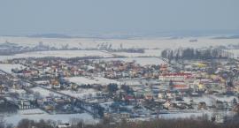 Zimowy Pruchnik oglądany z wieży widokowej (ZDJĘCIA)