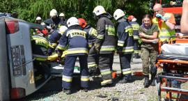 Wypadek, pożar lasu i strzelanina w Pruchniku