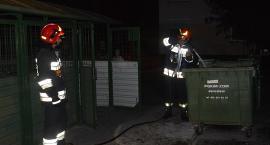 Pożar kosza na śmieci na osiedlu Jagiellonów