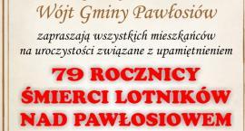 79 Rocznica śmierci lotników nad Pawłosiowem