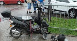 Zderzenie mercedesa z motorowerem