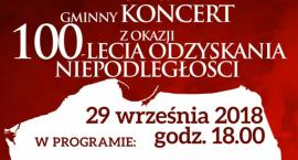 Gminny koncert z okazji 100-lecia odzyskania przez Polskę niepodległości