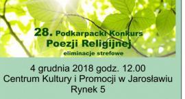 28 Podkarpacki Konkurs Poezji Religijnej