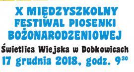 X Międzyszkolny Festiwal Piosenki Bożonarodzeniowej w Dobkowicach